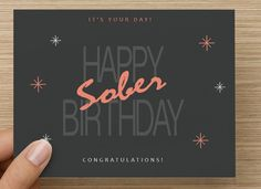 Sober anniversary card for #aa or #na sponsor sponsee or friend in