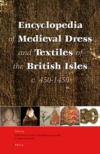 Encyclopedia of Medieval Dress and Textiles of the British Isles, c. 450-1450. Borrowed thru ILL & copied entries I want; probably don't need to own. 6-14.