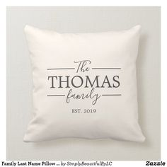 This beautiful pillow is sure to match any decor and be the perfect gift for weddings, anniversaries, or as a housewarming gift for your family or friends. All colors can be customized to match any home or style. Wedding Gifts For Bride And Groom, Diy Wedding Gifts, Wedding Gifts For Couples, Personalized Wedding Gifts, Wedding Anniversary Gifts, Bride Gifts, Customized Gifts, Wedding Present Ideas, Custom Gifts