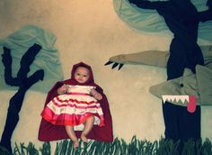 Adele Enerson inspired baby pic- little red riding hood