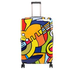 Triforce Francisco Ceron Music and Flowers 30-inch Hardside Spinner Upright Suitcase