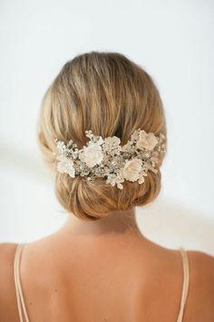 accessoires cheveux coiffure mariage chignon mariée bohème romantique retro, BIJOUX MARIAGE (123)