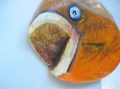 Painted Stones Set of Two Rock Art Fish Painted by gardenstones