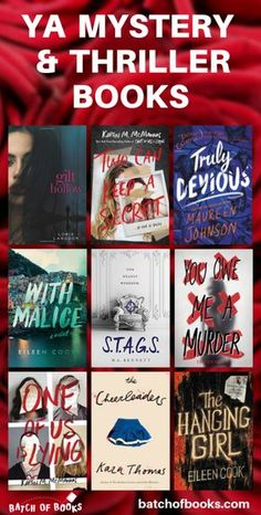 I love YA mystery books and teenage thrillers! Read these awesome high school murder mystery novels Books To Read In Your Teens, Best Books To Read, Ya Books, Good Books, Teenage Books To Read, Funny Books For Teens, Best Teen Books, Recommended Books To Read, Castle Tv
