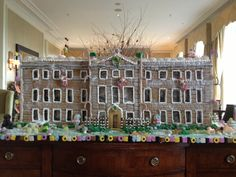 A giant, gingerbread Manor House created by talented pastry chef, Rosanna last Christmas! Four Seasons Hotel Hampshire