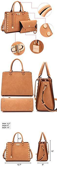 Brand Name Tote Bags. MMK collection Fashion Top handle Handbag(6669)~ Fashion Designer Satchel &Structured Purse~ClassicTote handbag~Briefcase bag with FREE Matching Coin Purse Set~Fashion Shoes bag (MA-XL-23-7579-RD).  #brand #name #tote #bags #brandname #nametote #totebags