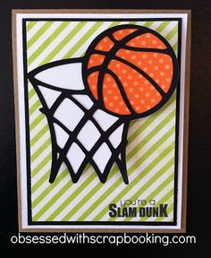 Obsessed with Scrapbooking: You're a Slam Dunk Masculine Card!