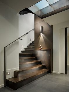 Below are the Loft Staircase Design Ideas You Have To See. This article about Loft Staircase Design Ideas You Have … Contemporary Stairs, Modern Stairs, Contemporary Living Room Designs, Stairs In Living Room, House Stairs, Wood Stairs, Stairs Flooring, Stairs Window, Loft Staircase