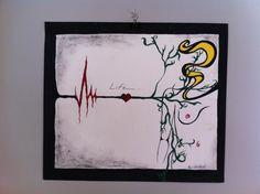 heart beat through life  painting