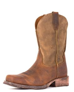 Men's Rambler Square Toe Boot - Brown Bomber  Would love to get me some Ariat boots. Soon maybe