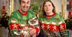 These cats are definitely not feeling very festive.