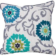 Better Homes and Gardens Decorative Embellished Floral Medallion Pillow, Blue, Multicolor Stairway Picture Wall, Stairway Pictures, Grey Throw Pillows, Toss Pillows, Decor Pillows, Better Homes And Gardens, Honeycomb Pattern, Sofa Bed, Decorative Throw Pillows