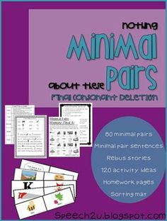 80 Sets of Minimal pairs and tons of activities!