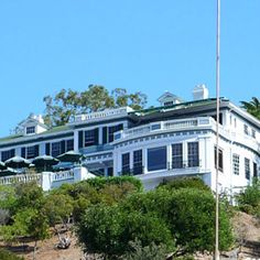 "The Wrigley Mansion. Santa Catalina Island, California. Now ""The Inn on Mount Ada"""
