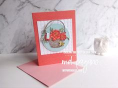 CTC 169 Saleabration and Blossoming Basket by Mel Pagano at My Paper Oasis Basket Weaving, Oasis, Stampin Up, Scrapbooks, Weave, Catalog, Projects, Card Making, Paper Crafts