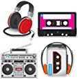 """Amazon.com: Beistle 54667 Cassette Player Cutouts, 12"""" - 14"""", 4 Cutouts In Package: Kitchen & Dining"""