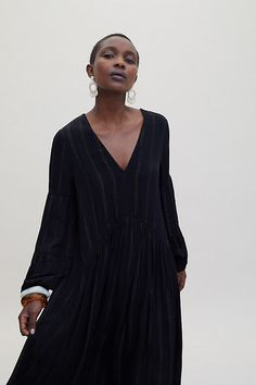 d4754e7a8a0 Metallic-Striped Cover-Up Dress - Black, Size M £120.00 | Anthropologie