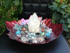 POSITIVE ENERGY CRYSTAL House Kit - Center Piece **Amazing Energy and Vibration** Breathtaking Gorgeous! on Etsy, $295.00