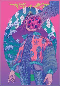 Illustrator Sangho Bang on his fantastical alien worlds that the big brands can'. - Illustrator Sangho Bang on his fantastical alien worlds that the big brands can'… Illustrator - Art And Illustration, Art Illustrations, Illustrator Character Design, Character Art, Psychedelic Art, Psychedelic Pattern, Art Alien, Poster Drawing, Psy Art