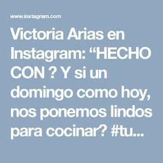 """Victoria Arias en Instagram: """"HECHO CON ❤  Y si un domingo como hoy, nos ponemos lindos para cocinar? #tupresenciaentodaspartes #delantales productos #hechoconamor…"""""""