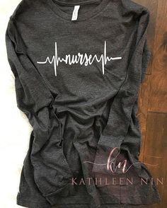 2c8b01c4378 Nurse Shirt - Nurse Heartbeat Shirt - Nurse EKG Shift - Nurse Gift - Gift  for Nurse - Nursing Studen