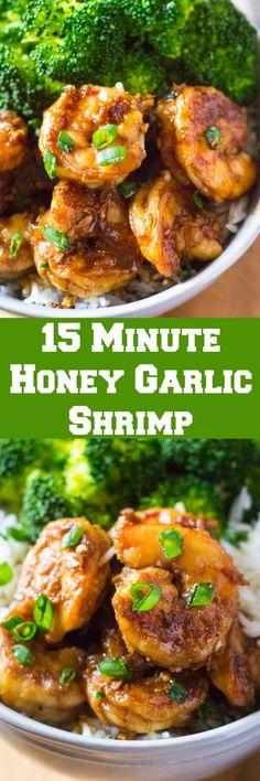15 Minute Honey Garlic Shrimp