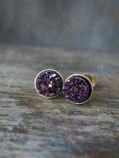 Earrings, dark purple  Love them!