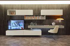 Modern Tv Wall, Modern Living, Tv Unit Design, Scandinavian Style, My Room, Home Projects, Home Office, Corner Desk, Modern Design
