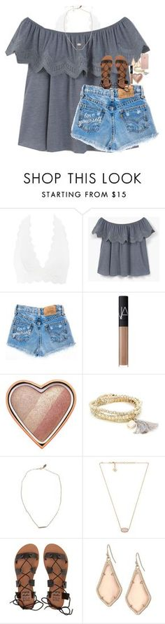 """love yourself darling, because you are beautiful"" by classynsouthern ❤ liked on Polyvore featuring Charlotte Russe, MANGO, NARS Cosmetics, Too Faced Cosmetics, Sole Society, Devon Pavlovits, Kendra Scott and Billabong"