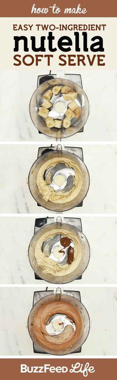 Crema espumosa de Nutella de dos ingredientes