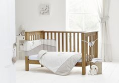 Kidz Kiss Nursery Essentials Cot Bedding Set Green // Cot Sheet Set + Blanket