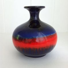 Carstens Tonnieshof Atelier Vase West German Pottery Fat Lava