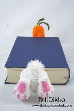 Amigurumi Crochet Pattern Bunny Bookmark English Version