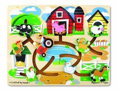 Amazon.com: Melissa & Doug Farm Maze Wooden Puzzle: Toys & Games