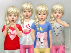 The Sims Resource: T-Shirt Toddler Girl P02 by lillka • Sims 4 Downloads