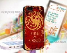 Fire and Blood Targary - Print On Hard Case For iPhone 4/4S Case