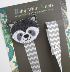 Hey, I found this really awesome Etsy listing at https://www.etsy.com/listing/183489935/boy-raccoon-pacifier-clip-grey-raccoon