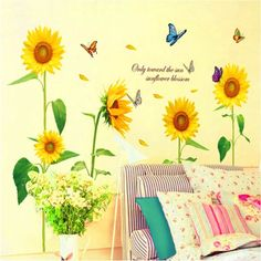 Buy best Sunshine Sunflower Butterfly Dancing in Summer Removable Wallpaper from LovDock.com. Buy affordable and quality Wallpapers online, various discounts are waiting for youhttps://www.lovdock.com/p-h11528.html?aid=C6624