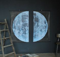 well then, that giant moon is exactly what i want to hang over my bed!