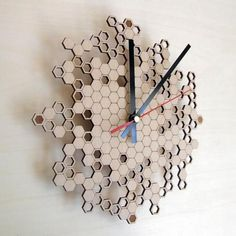 Asymmetree. Parametric + Laser Cut Clocks