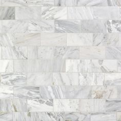 Carrara Marble Carrara White Polished Marble Tile Size: 3 x 6 SKU: 931100290 Honed Marble, Marble Mosaic, Marble Floor, Calacatta, Decorative Tile Backsplash, Kitchen Backsplash, Backsplash Ideas, Tile Ideas, Polished Porcelain Tiles