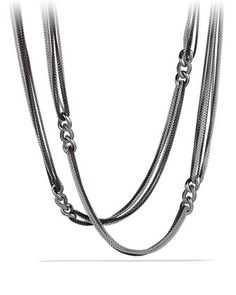 Curb+Link+Eight-Row+Black+and+White+Necklace+by+David+Yurman+at+Neiman+Marcus.
