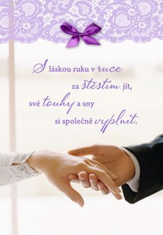 S láskou ruku v ruce - přání k svatbě Dyi, Love, Cards, Wedding, Projects, Amor, Valentines Day Weddings, Maps, Weddings