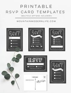 The invitation maker offers high quality custom wedding invitations download and customize these printable diy rsvp card templates perfect for a rustic or vintage inspired wedding via mtnmodernlife stopboris Gallery