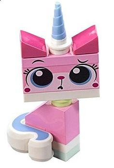 The LEGO Movie - Sitting Unikitty Minifigure with 2 Facial Expressions (Curious/Teary) from set 70818 by LEGO Bday Cake Images, Lego Dog, Lego Building Blocks, Lego Movie, Lego Brick, Facial Expressions, Fun, Movies, Kittens