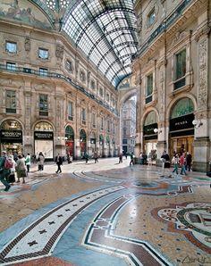 Galleria Vittorio Emanuele II in Milan, Italy Milan Italy Travel, Places To Travel, Places To See, Place Of Birth, Travel Around The World, Around The Worlds, Bósnia E Herzegovina, Travel Photographie, Comer See