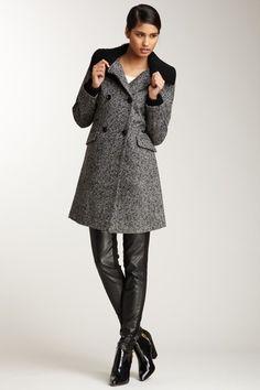 Rib Trim Coat by Nicole Miller on @HauteLook