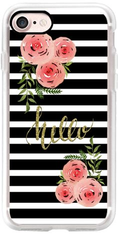 Casetify iPhone 7 Classic Grip Case - Hello - floral watercolor n.7 by Psychae #Casetify