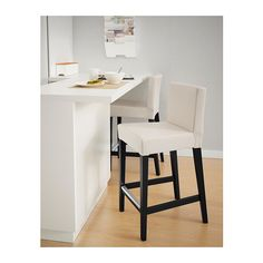 HENRIKSDAL Bar stool with backrest IKEA The padded seat means you sit comfortably. Footrest for extra sitting comfort.