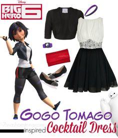 Fashion Inspired by Big Hero 6 Red Carpet - Gogo Tomago inspired cocktail dress #BigHero6Event #DisneyBounding